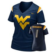 Nike West Virginia Mountaineers Dri-FIT Football Replica Tee