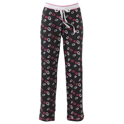 Derek Heart Polka-Dot Kiss Dorm Pants - Juniors