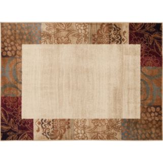 KHL Rugs Floral-Border Rug - 5' x 7'