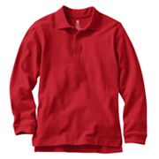 Chaps Solid Pique School Uniform Polo - Boys 8-20