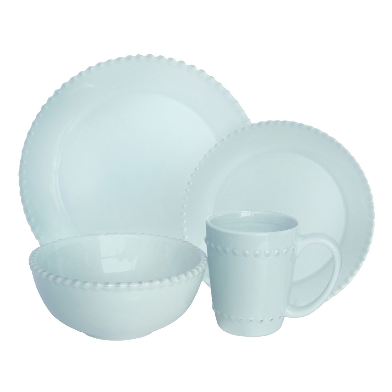 American Atelier Bianca Bead Azul 16-pc. Dinnerware Set  sc 1 st  Kohl\u0027s & Atelier Bianca Bead Azul 16-pc. Dinnerware Set