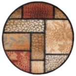"""KHL Rugs Transitional Floral Rug - 5'3"""" Round"""
