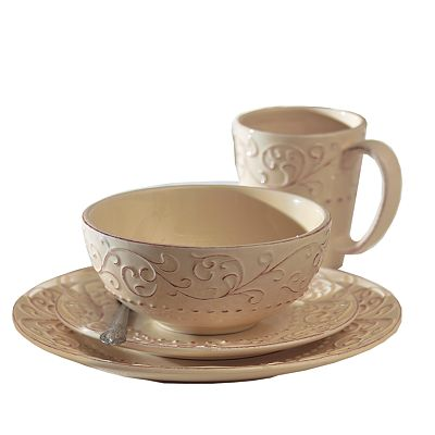 American Atelier Bianca Cream 16-pc. Dinnerware Set