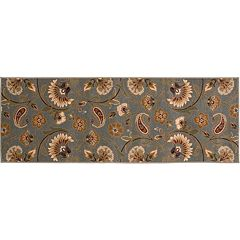 KHL Rugs Transitional Floral Rug Runner - 31' x 87'
