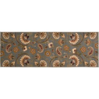 KHL Rugs Transitional Floral Rug Runner - 31'' x 87''