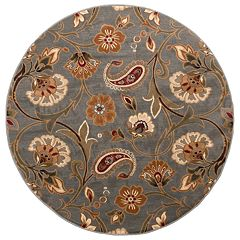 KHL Rugs Transitional Floral Rug - 5'3' Round