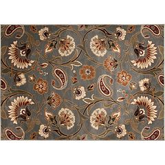 KHL Rugs Transitional Floral Rug - 7'10' x 10'3'