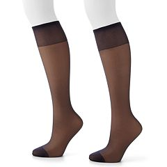 Hanes 2 pkSilk Reflections Silky Sheer Knee-High Pantyhose