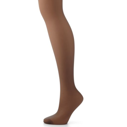 Hanes Plus Silk Reflections Silky Sheer Control-Top Pantyhose