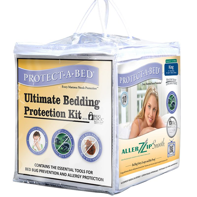 Protect A Bed Allerzip Smooth Encased Mattress Protector Bed Mattress Sale