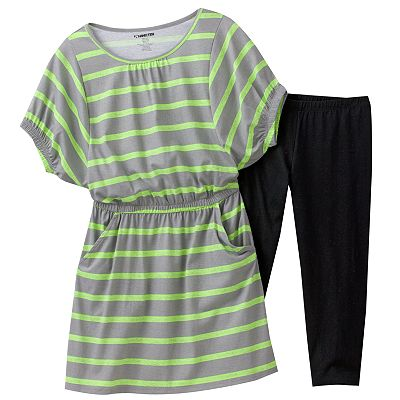 Hang Ten Striped Dress and Leggings Set - Girls 7-16
