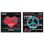 Head West 2-pc. Love - Peace Wall Plaque Set