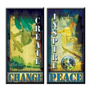 Head West 2-pc. Create - Inspire Wall Plaque Set