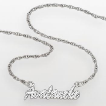 LogoArt Colorado Avalanche Sterling Silver Script Necklace