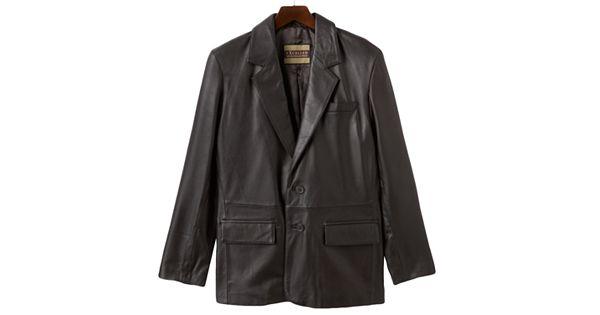 Blazers Youtube Tv: Men's Excelled Leather Blazer Jacket