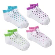 Hanes 4-pk. Dot Low-Cut Socks