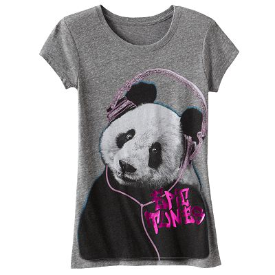 Mudd Epic Tunes Panda Tee - Girls Plus