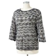 Sag Harbor Lurex Space-Dyed Sweater - Women's Plus