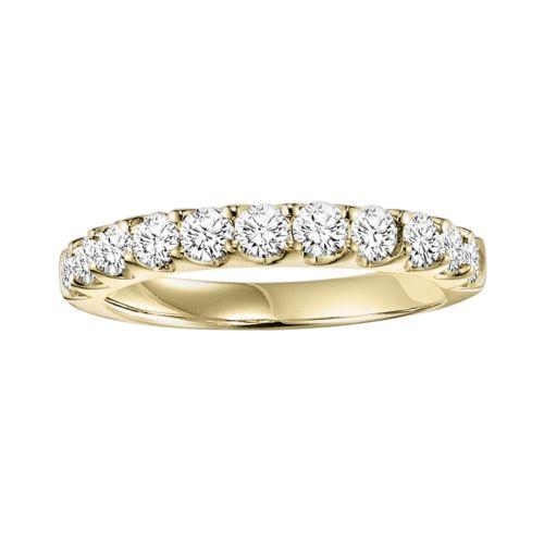 Cherish Always 14k Gold 1-ct. T.W. Round-Cut Diamond Wedding Ring