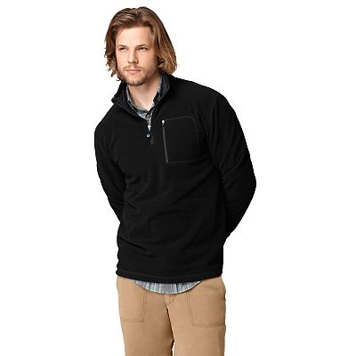 G.H. Bass Grid Fleece 1/4-Zip Performance Pullover Jacket - Men