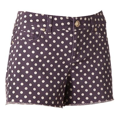 LC Lauren Conrad Polka-Dot Denim Shorts