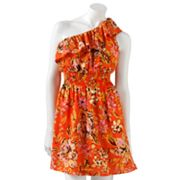 Lily Rose Floral Asymmetrical Dress - Juniors