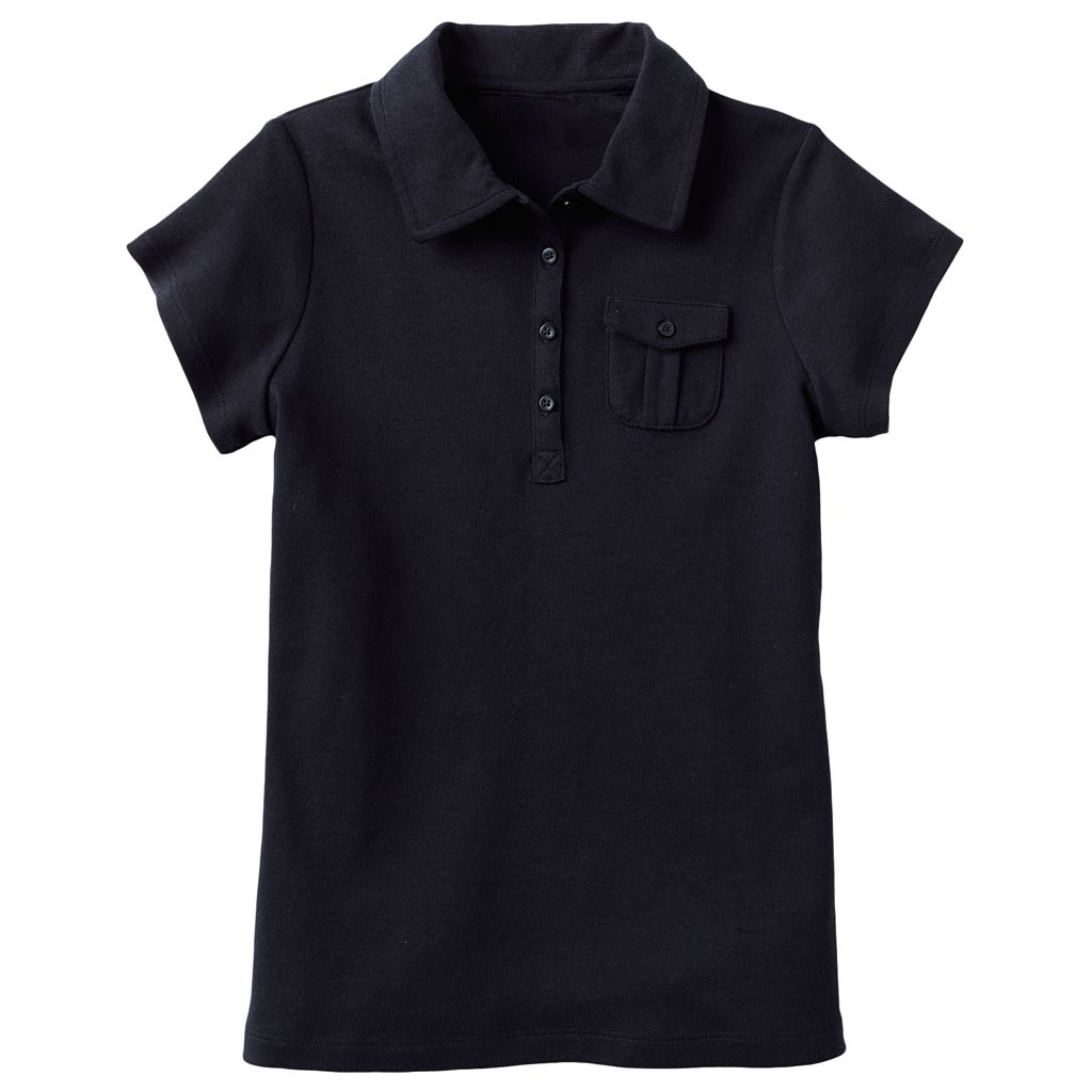 Girls 7-16 Chaps Interlock School Uniform Polo