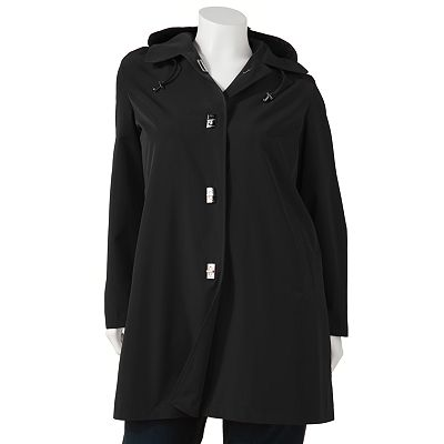 Dana Buchman Hooded Walker Raincoat - Women's Plus