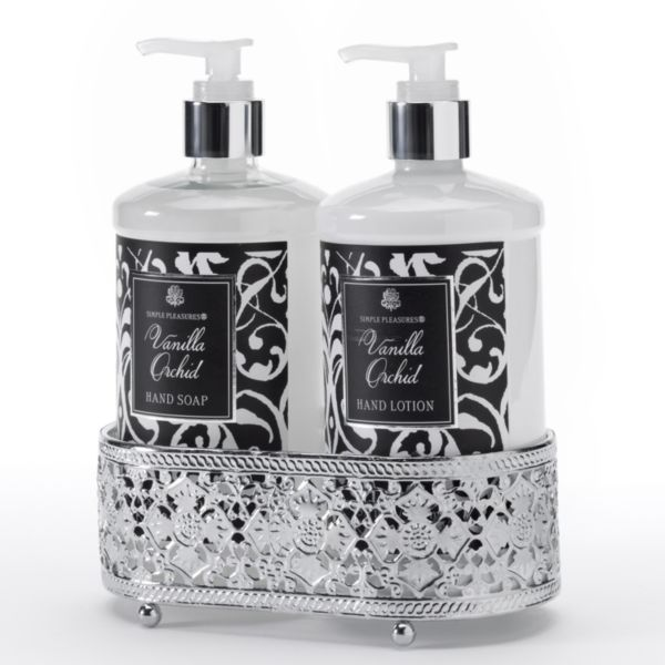 Vanilla Orchid Hand Soap Hand Lotion Caddy Gift Set
