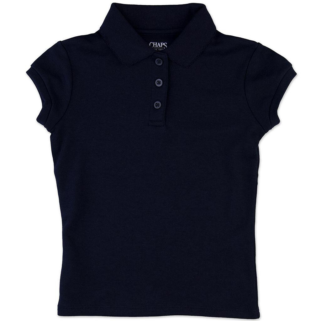 Girls 8-16 Chaps Picot School Uniform Polo