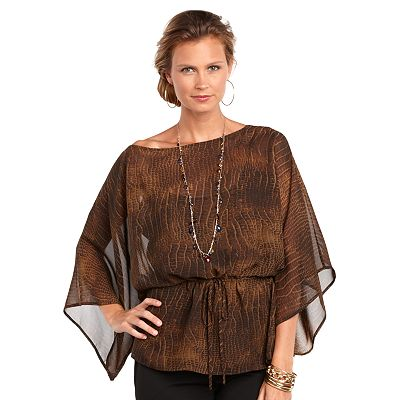 Chaps Snakeskin Tunic and Camisole Set