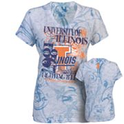Russell Illinois Fighting Illini Burnout Tee