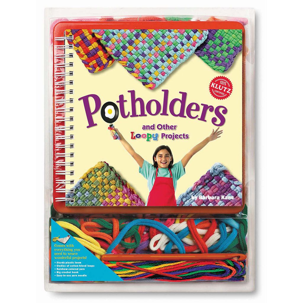 Klutz Potholders & Other Loopy Projects Activity Book by University Games