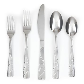 Cambridge Sasha Sand 42-pc. Flatware Set