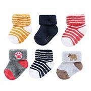 Baby Carter's 6 pkStriped Animal Terry Socks