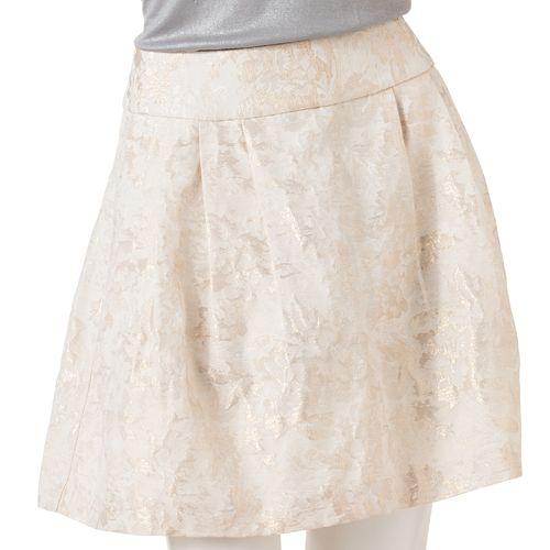 Women's Jennifer Lopez Floral Lurex Circle Skirt