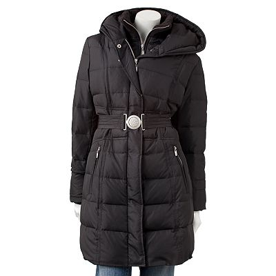 Apt. 9 Hooded Long Down Puffer Jacket