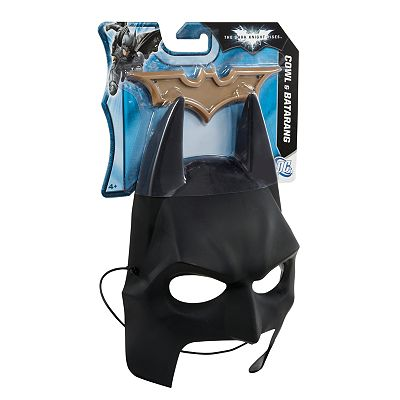 Batman The Dark Knight Rises Cowl and Batarang by Mattel