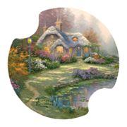 Thirstystone Thomas Kinkade 'Everett's Cottage' 2 pc Car Coaster Set