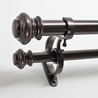 Decopolitan Urn Adjustable Double Curtain Rod - 72'' - 144''