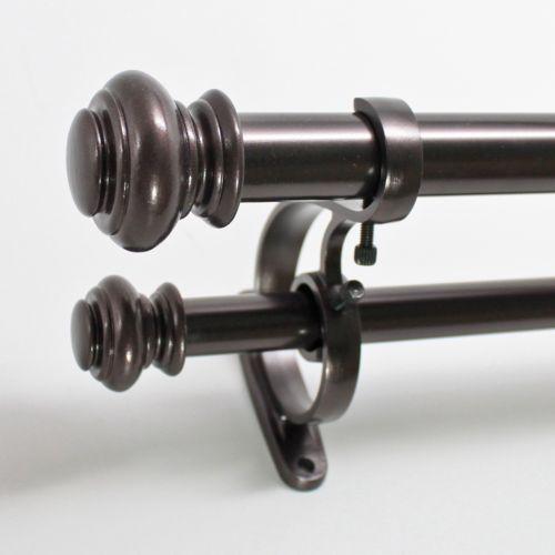 """Decopolitan Urn Adjustable Double Curtain Rod – 72"""" – 144"""""""
