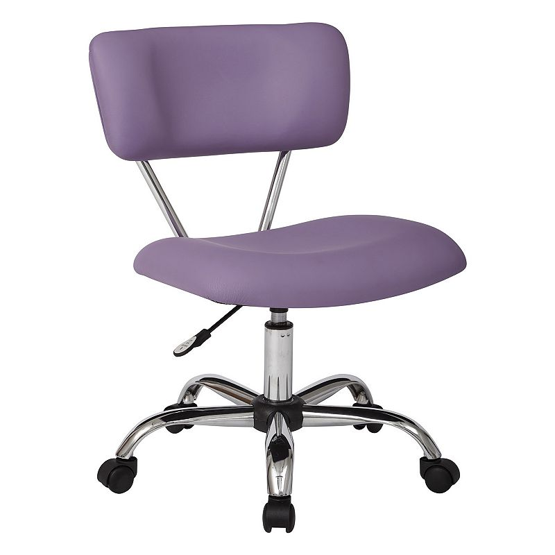 OSP Home Furnishings Avenue Six Task Chair, Purple