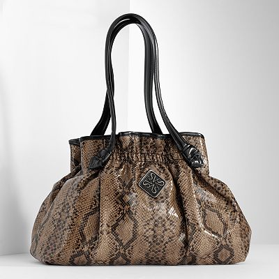 Simply Vera Vera Wang Snakeskin Ruched Shopper