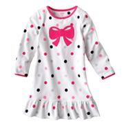 Carter's Dotted Bow Microfleece Nightgown - Girls