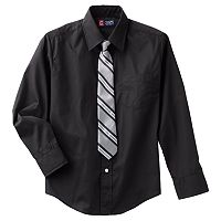 Boys 8-20 Chaps Button-Down Shirt & Tie Set