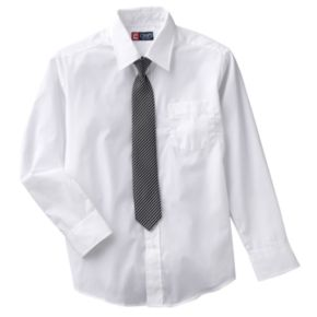 Boys 8-20 Chaps Button-Down Shirt and Tie Set