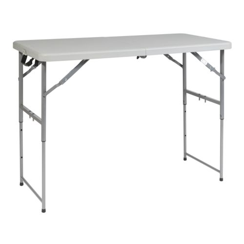 Office Star Products 4-ft. Height-Adjustable Folding Table - Outdoor
