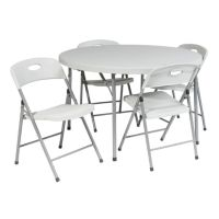 Office Star Products 5-pc. Folding Table & Chairs Set - Outdoor