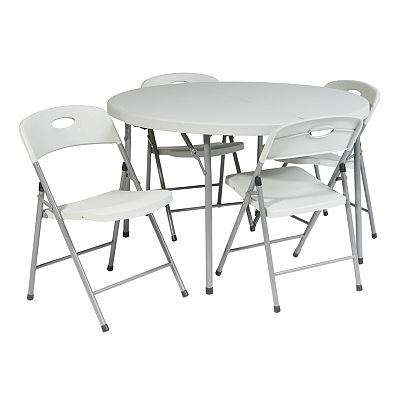 Office Star Products 5-Piece Folding Table and Chairs Set