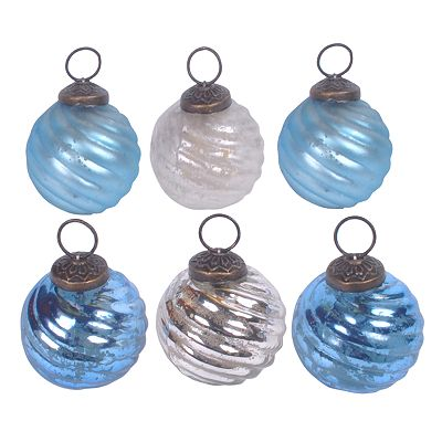 St. Nicholas Square 6-pk. Swirl Ball Ornaments